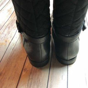Isaac Mizrahi Shoes - Isaac Mizrahi Live Black Quilted Riding Boots Knee